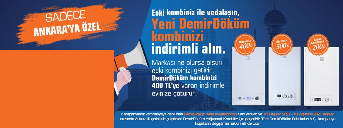 Ankara Demirdöküm Yoğuşmalı Kombi Değişim Kampanyası